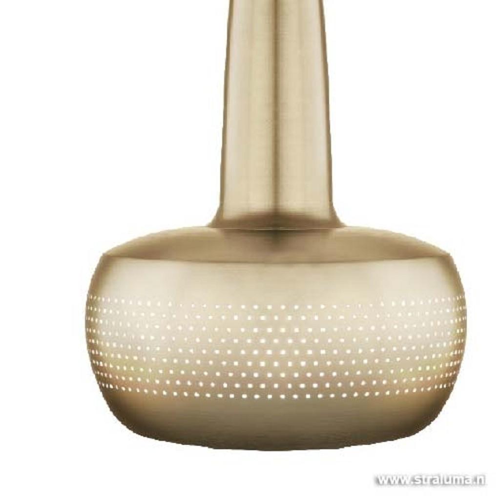 Design hanglamp mat goud Clava woonkamer.