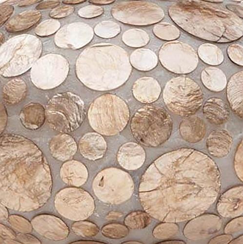 Tafellamp Coin schelpen ufo gold 40cm