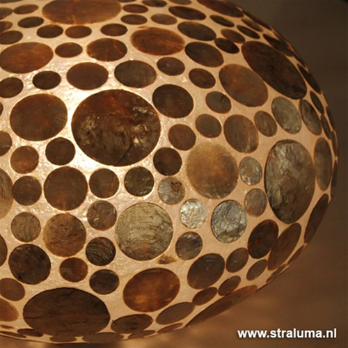 Tafellamp Coin schelpen ufo gold