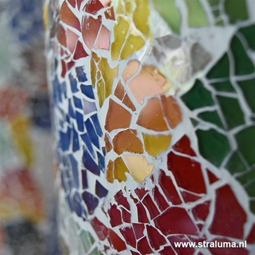 Vloerlamp zuil mozaiek glas multicolor