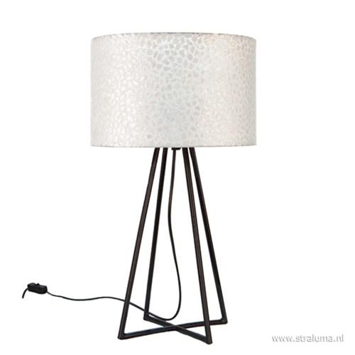 Sfeervolle tafellamp met schelpen kap