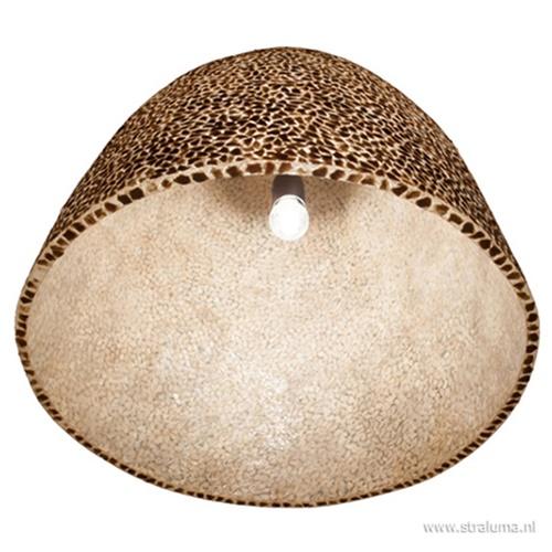 Grote schelpen hanglamp bruin goud
