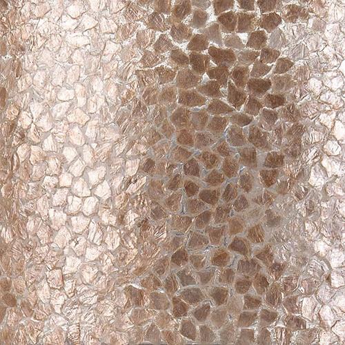 Grote schelpen wandlamp bruin met goud 60 cm