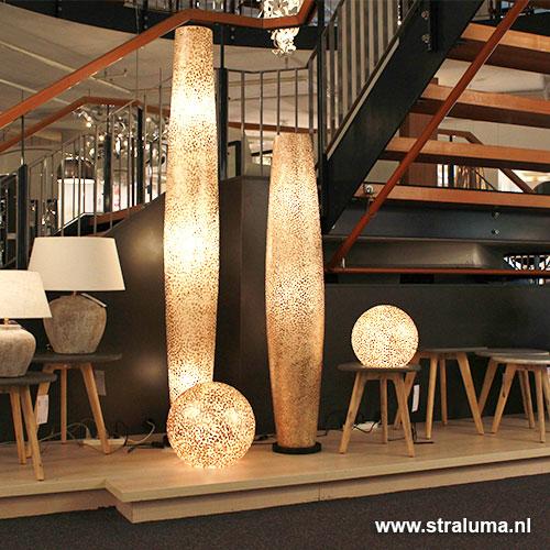Ibiza vloerlamp schelpen zuil woonkamer | Straluma