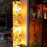 Decoratieve vloerlamp glas zuil kleuren