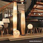 Ibiza vloerlamp schelpen zuil woonkamer
