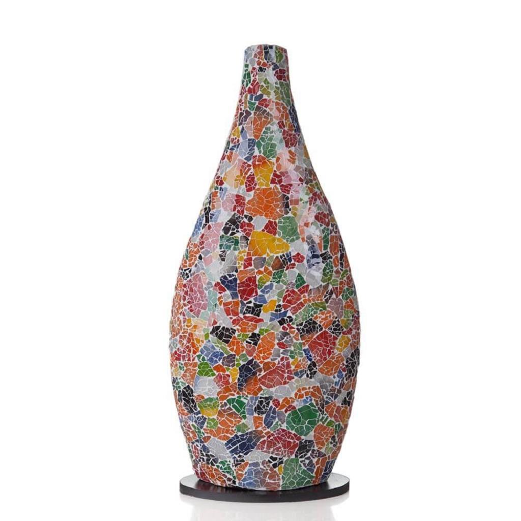 Tafellamp / vaaslamp gerecycled glas
