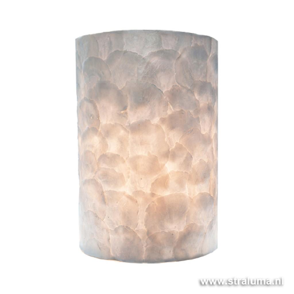 Romantische schelpen wandlamp ivoor