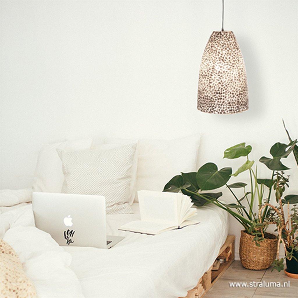 Hanglamp capiz schelpen wit