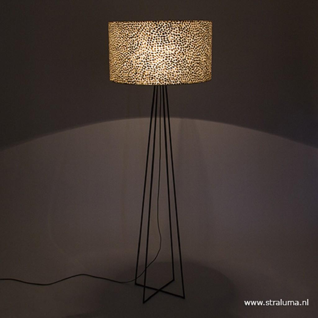Schelpen vloerlamp met metaal groot