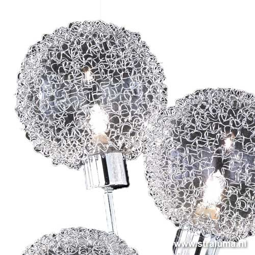 Tafellamp chroom met bollen