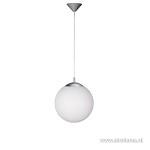 **Hanglamp pendel glasbol wit, keuken