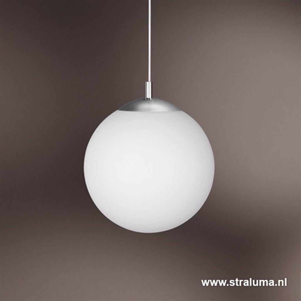 Hanglamp pendel glasbol wit, keuken