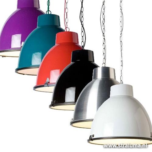 Hanglamp industrie wit, eettafel-kamer