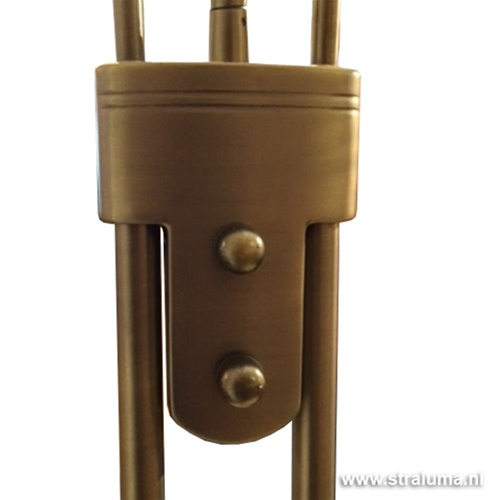 Klassieke LED vloerlamp brons leesarm