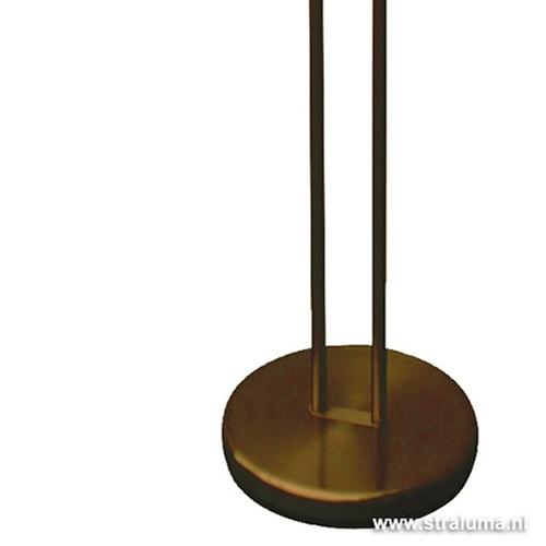 Staande LED lamp brons dimbaar