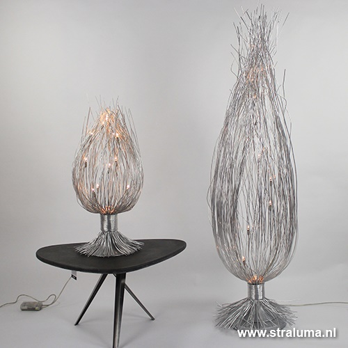 Aluminium takken vloerlamp modern