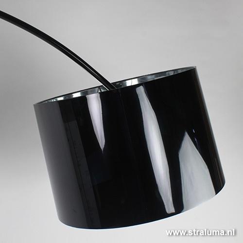 Aanbieding booglamp zwart woonkamer