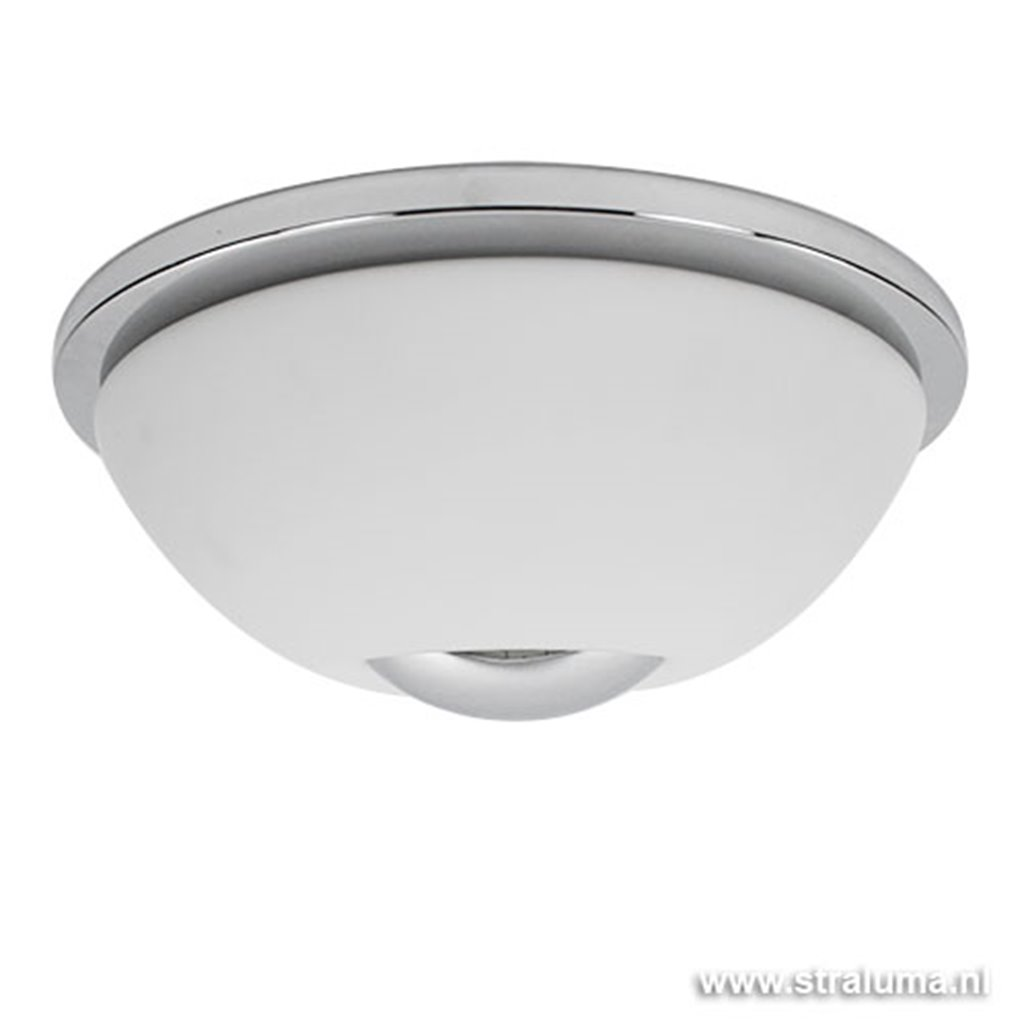 Moderne plafondlamp wit-chroom keuken