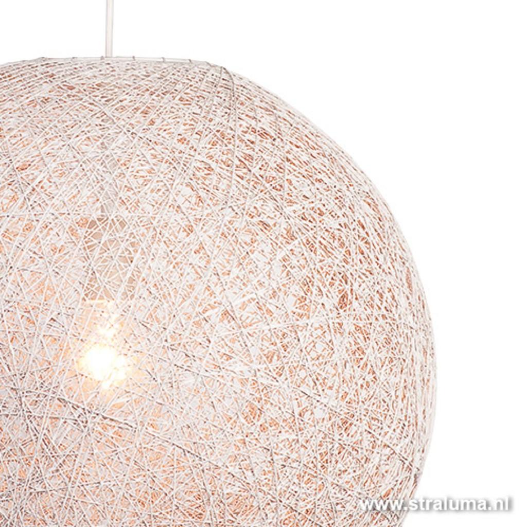 *Hanglamp bol gebroken wit Abaca 45cm
