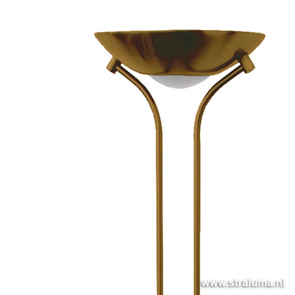 *Staande LED lamp brons dimbaar