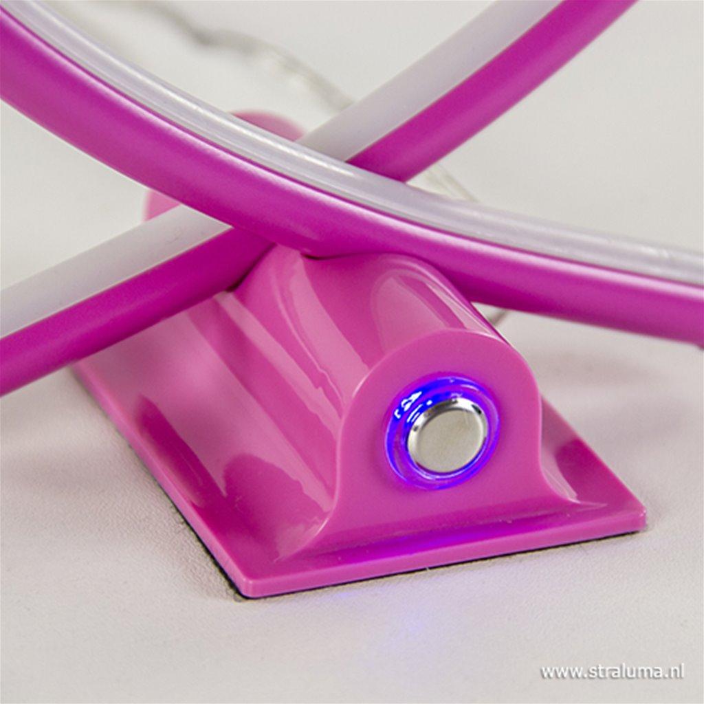 Dimbare LED tafellamp roze hart