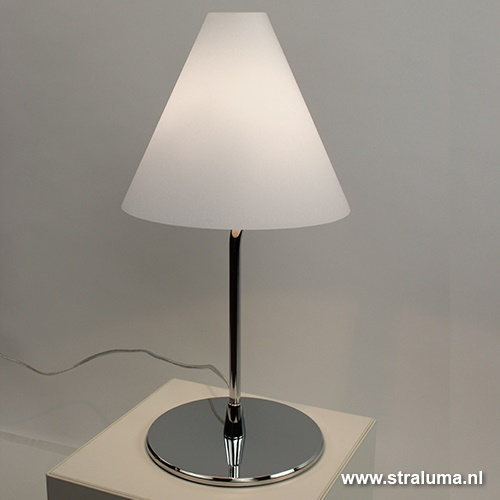 Moderne Testa Tafellamp wit chroom