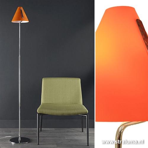 Modern staande lamp Cappello oranje