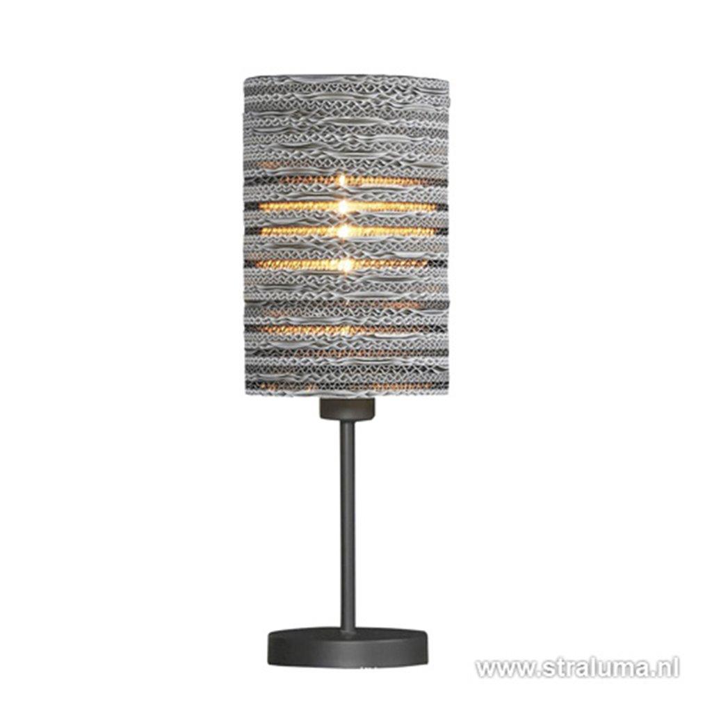 Tafellamp met kap van karton - wit