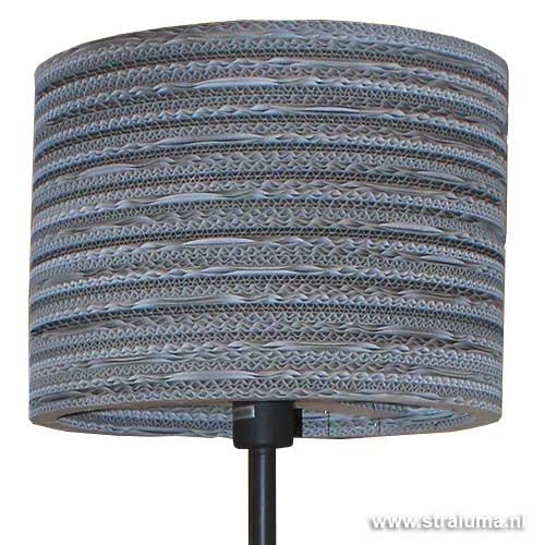 Trendy vloerlamp karton grijs-wit
