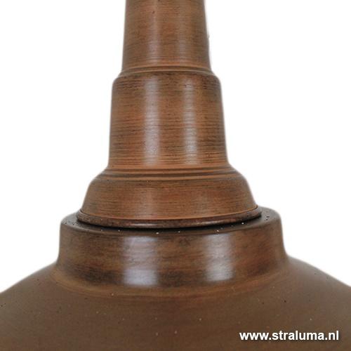 Hanglamp industrie bruin-zwart eettafel