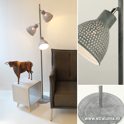 Industriële vloerlamp beton leeslamp | Straluma