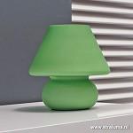 *Retro tafellamp groen glas slaapkamer