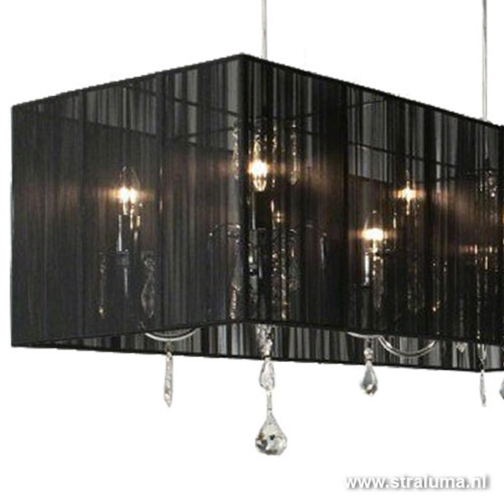 Wonderbaar Kroon in zwarte lampenkap eettafel | Straluma SO-72