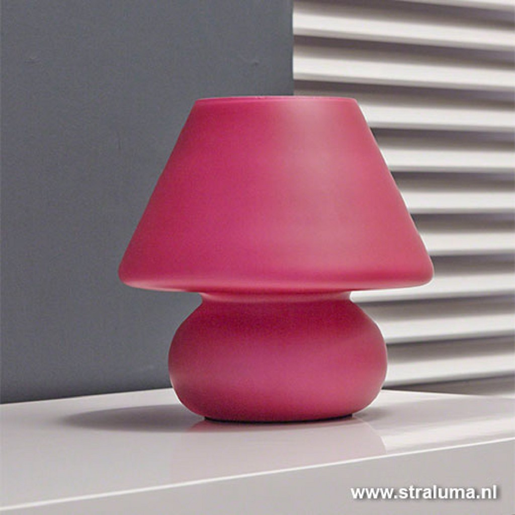 Retro tafellamp fuchsia-roze slaapkamer