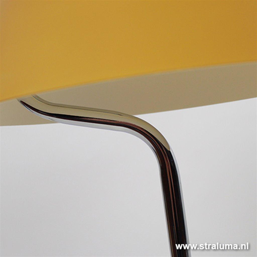 Moderne tafellamp geel glas slaapkamer