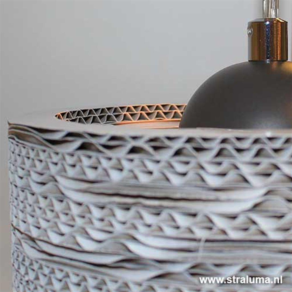 4lichts hanglamp kappen van karton wit