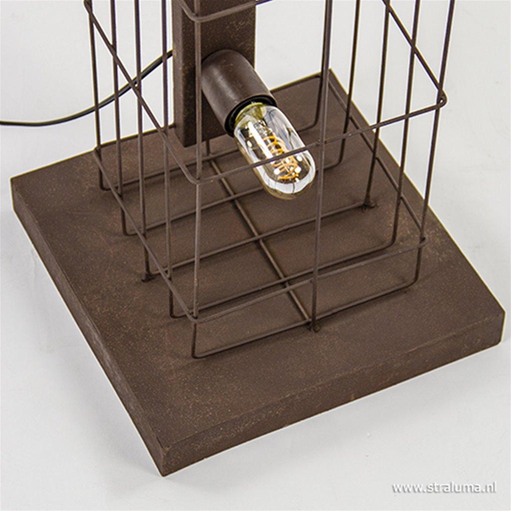Roestbruine vloerlamp kooi industrie