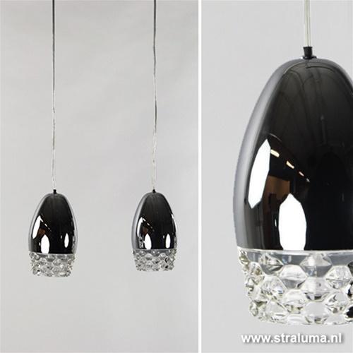Aanbieding hanglamp eettafel chroom ei