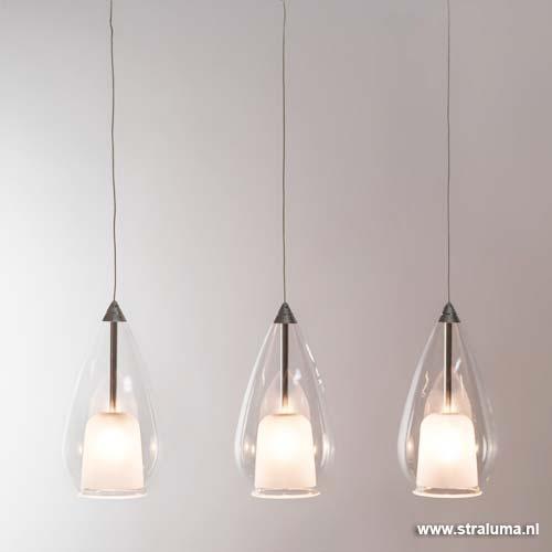 Aanbieding kleine hanglamp eettafel glas