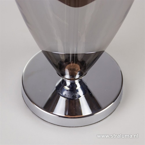 Luxe glazen tafellamp 'Smokey'