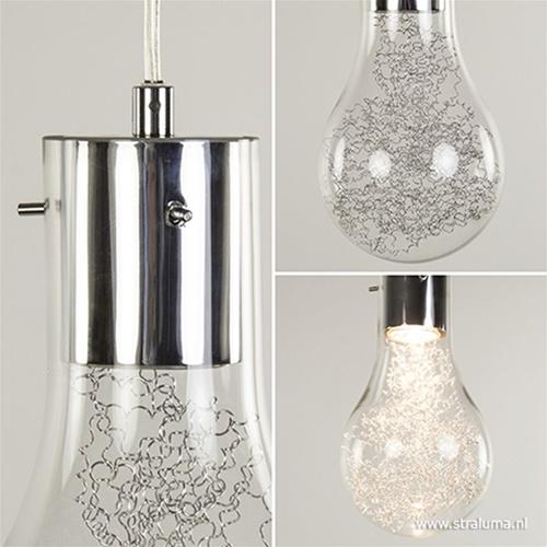 Moderne wandlamp gloeilamp chroom