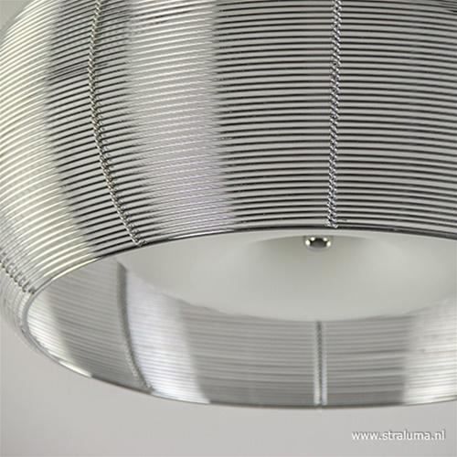 Plafondlamp-plafonnière glas en chroom