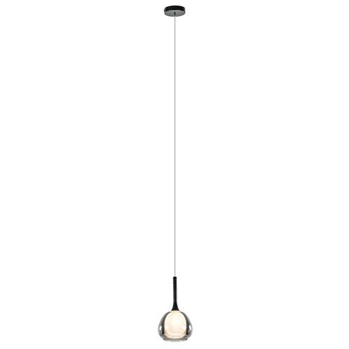 Sfeervolle hanglamp smoke met wit binnenglas