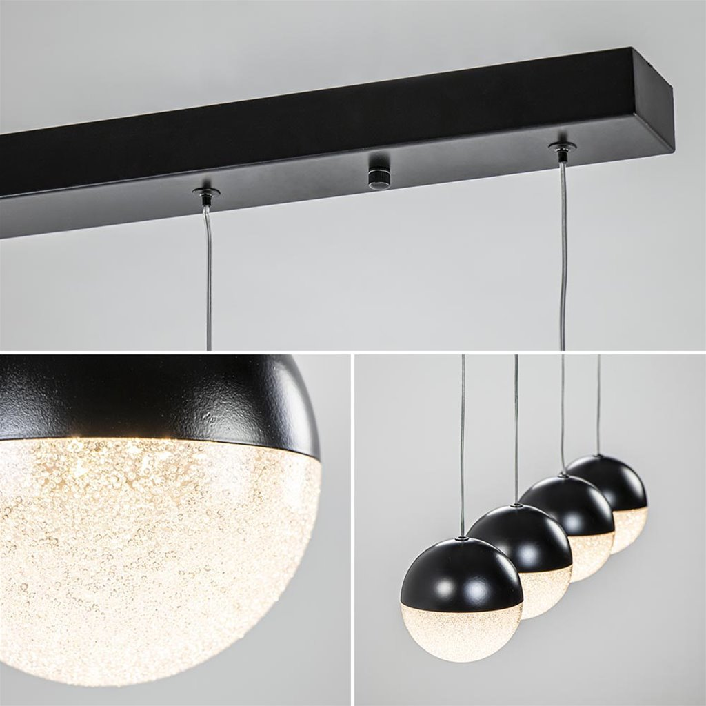 Moderne 4-lichts hanglamp met LED 3-standen dimbaar