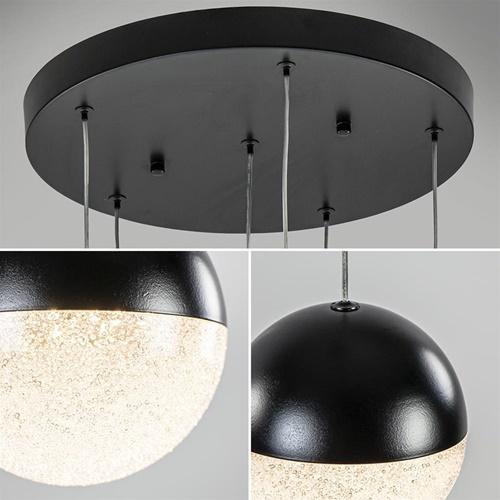 Moderne videlamp zwart met dimbaar LED 6-lichts