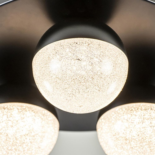 3-Lichts ronde LED plafondlamp zwart 3-standen dimbaar