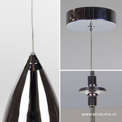 aanbieding kleine hanglamp glas smoke straluma