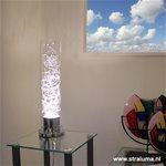 *Moderne tafellamp glas met zilverdraad
