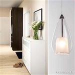 Kleine hanglamp glas helder 1-lichts